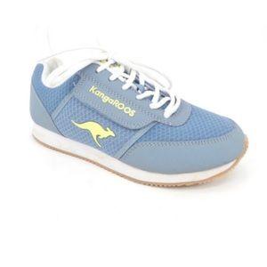 Vintage 80s KangaRoos Blue Velcro Pocket Sneakers